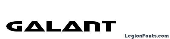 Шрифт Galant