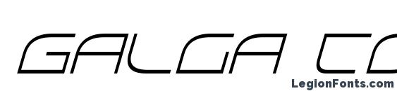 Galga Condensed Italic Font