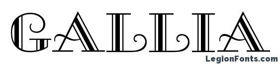 Шрифт Gallia