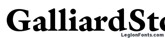 GalliardStd Black Font