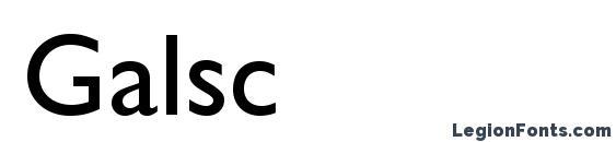 Galsc Font
