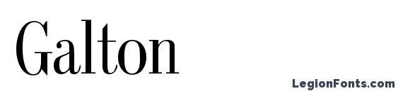 Galton Font