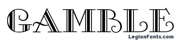 Gambler Regular DB Font