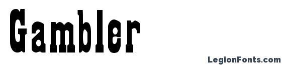 Gambler font, free Gambler font, preview Gambler font
