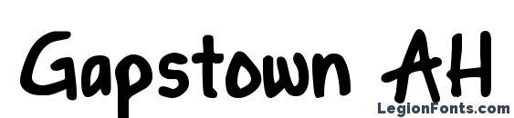 Gapstown AH Bold Font