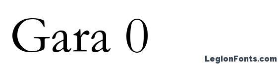 Gara 0 font, free Gara 0 font, preview Gara 0 font