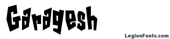 шрифт Garagesh, бесплатный шрифт Garagesh, предварительный просмотр шрифта Garagesh