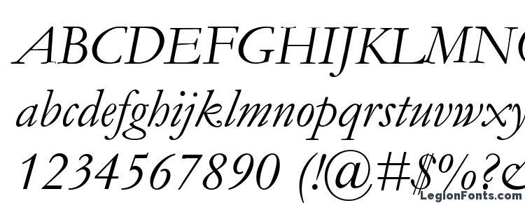 глифы шрифта Garamond Курсив, символы шрифта Garamond Курсив, символьная карта шрифта Garamond Курсив, предварительный просмотр шрифта Garamond Курсив, алфавит шрифта Garamond Курсив, шрифт Garamond Курсив