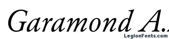 Шрифт Garamond A.Z PS Normal Italic