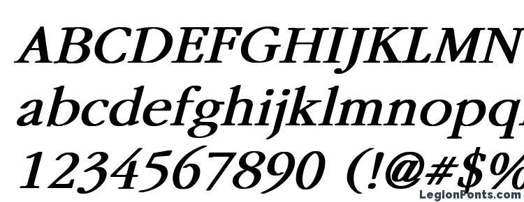 глифы шрифта Garamond Bold Italic, символы шрифта Garamond Bold Italic, символьная карта шрифта Garamond Bold Italic, предварительный просмотр шрифта Garamond Bold Italic, алфавит шрифта Garamond Bold Italic, шрифт Garamond Bold Italic