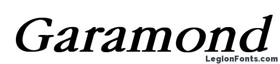 Шрифт Garamond Bold Italic