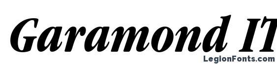 Garamond ITC Bold Condensed Italic BT Font