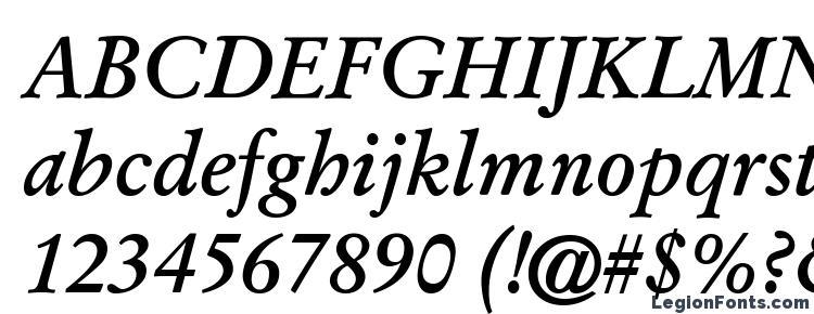 глифы шрифта Garamond Kursiv Halbfett, символы шрифта Garamond Kursiv Halbfett, символьная карта шрифта Garamond Kursiv Halbfett, предварительный просмотр шрифта Garamond Kursiv Halbfett, алфавит шрифта Garamond Kursiv Halbfett, шрифт Garamond Kursiv Halbfett