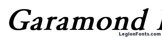 Garamond Normal Bold Italic Font