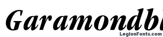 Шрифт Garamondblackcondssk italic