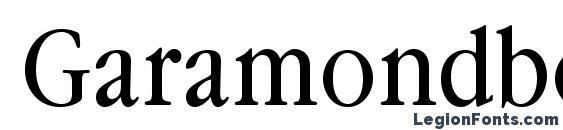 Шрифт Garamondbooknarrowc