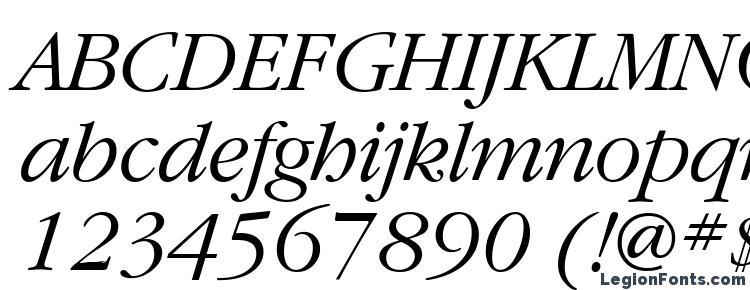 глифы шрифта GaramondBTT Italic, символы шрифта GaramondBTT Italic, символьная карта шрифта GaramondBTT Italic, предварительный просмотр шрифта GaramondBTT Italic, алфавит шрифта GaramondBTT Italic, шрифт GaramondBTT Italic