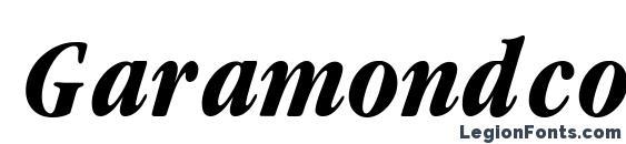 Шрифт Garamondcond Bold Italic