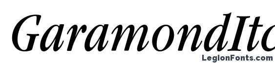 Шрифт GaramondItcTEECon Italic
