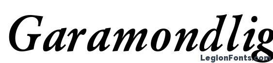 Шрифт Garamondlightssk bolditalic