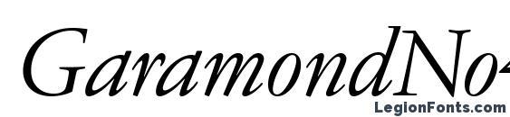 Шрифт GaramondNo4CyrTCYLig Italic