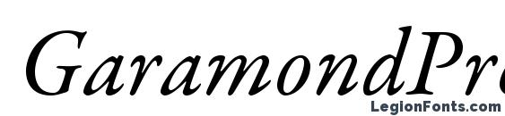 GaramondPremrPro It Font