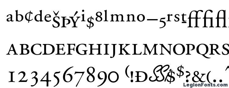 глифы шрифта Garamondprossk, символы шрифта Garamondprossk, символьная карта шрифта Garamondprossk, предварительный просмотр шрифта Garamondprossk, алфавит шрифта Garamondprossk, шрифт Garamondprossk