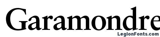 Шрифт Garamondretrospectivessk bold