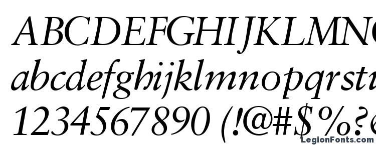 глифы шрифта Garamondretrospectivessk italic, символы шрифта Garamondretrospectivessk italic, символьная карта шрифта Garamondretrospectivessk italic, предварительный просмотр шрифта Garamondretrospectivessk italic, алфавит шрифта Garamondretrospectivessk italic, шрифт Garamondretrospectivessk italic