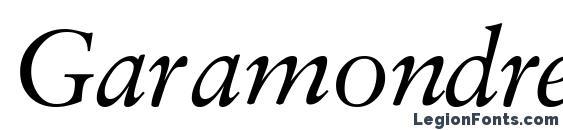 Шрифт Garamondretrospectivessk italic