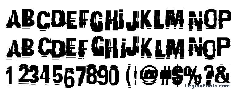 глифы шрифта Garbagec, символы шрифта Garbagec, символьная карта шрифта Garbagec, предварительный просмотр шрифта Garbagec, алфавит шрифта Garbagec, шрифт Garbagec