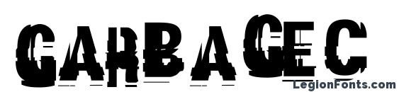 шрифт Garbagec, бесплатный шрифт Garbagec, предварительный просмотр шрифта Garbagec
