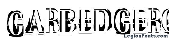 Garbedgeromanc Font