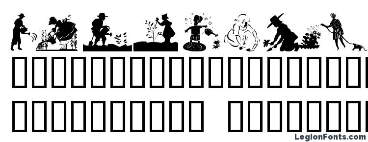 glyphs Gardening with sue font, сharacters Gardening with sue font, symbols Gardening with sue font, character map Gardening with sue font, preview Gardening with sue font, abc Gardening with sue font, Gardening with sue font