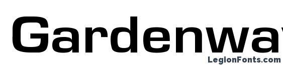 GardenwayExt Bo font, free GardenwayExt Bo font, preview GardenwayExt Bo font