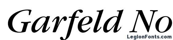 Шрифт Garfeld Nova Italic