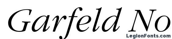 Шрифт Garfeld Nova Light Italic