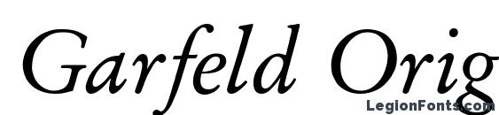 Garfeld Original Italic Font, Wedding Fonts