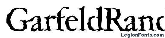 шрифт GarfeldRandom, бесплатный шрифт GarfeldRandom, предварительный просмотр шрифта GarfeldRandom
