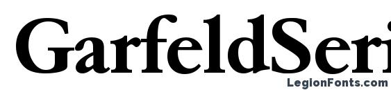 Шрифт GarfeldSerial Bold