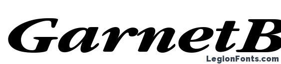 GarnetBroad Bold Italic Font