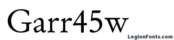 Garr45w font, free Garr45w font, preview Garr45w font