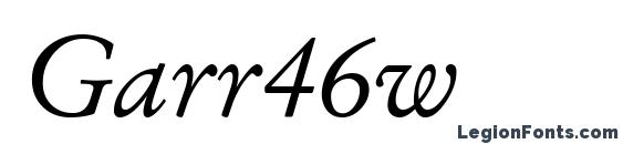 Шрифт Garr46w