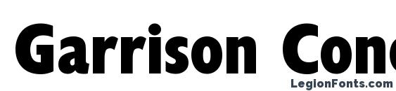 Шрифт Garrison Cond. Sans BOLD