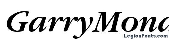 Шрифт GarryMondrian5 SBldItalicSH