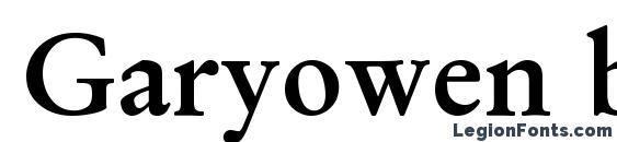 Garyowen bold Font