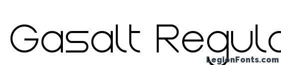 Gasalt Regular Font, TTF Fonts
