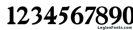 Gascogne Serial Bold DB Font, Number Fonts