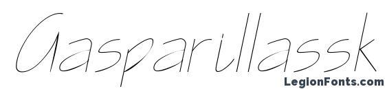 Шрифт Gasparillassk italic