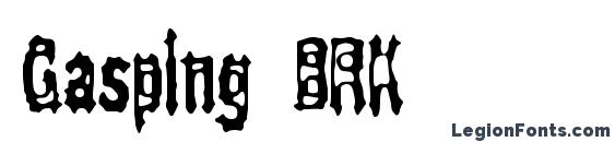 Gasping BRK Font, Halloween Fonts